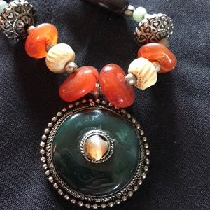 Bohemian earth connection necklace